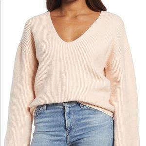 Treasure & Bond V-Neck Rib Stitch Sweater size XXSMALL